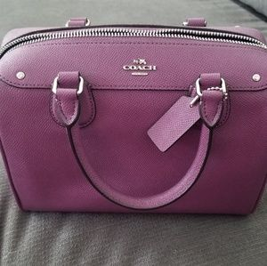 Coach Mini Bennett leather satchel